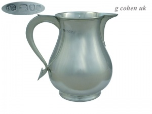 Sterling Silver Beer Jug 1967